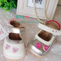 【爱步礼】蝴蝶结爱心花牛筋底女宝宝童叫叫鞋真皮学步鞋凉鞋单鞋 价格:39.00