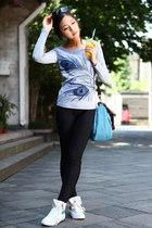 谷纱正品新款精品修身长袖打底衫女T恤 烫钻 秋装 圆领印花淑8307 价格:82.00