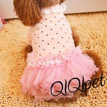 2件包邮 新款宠物衣服泰迪比熊狗狗衣服秋冬装公主纱裙蓬蓬裙婚纱 价格:39.96