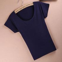 特价包邮百搭女士纯色T恤 修身显瘦弹力短袖打底衫 价格:9.90
