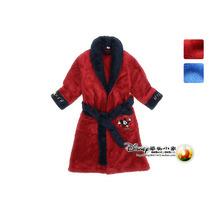 正品三枪睡衣迪士尼米奇儿童浴衣珊瑚绒全开襟长袖男童睡袍88233 价格:184.00