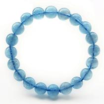 子如正品 极品天然水晶宝石透体海蓝宝手链 绝非托帕石 补水美容 价格:518.00