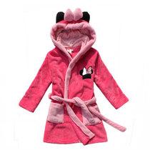 两件包邮 男童女童珊瑚绒睡衣珊瑚绒浴袍连帽加厚睡袍儿童浴衣 价格:39.90