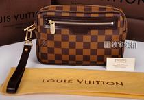 2013年新款路易威登香港正品代购LV 男包 男士咖啡格手拿包N61739 价格:3840.00