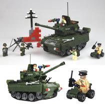 启蒙正品军事拼装积木塑料拼插 大坦克模型益智力男孩玩具乐高式 价格:58.00