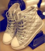 香港正品代购 IIJIN艾今 菱格内增高松糕鞋 厚底鞋4/5寸高帮女鞋 价格:329.00