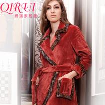 特价清货绮瑞家居服 2013秋冬女士美舒绒珊瑚绒睡衣睡袍QD46570 价格:155.00