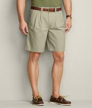 保真 加大码腰围3-3.3尺 美单水洗纯棉双褶凉爽薄料宽松五分短裤 价格:85.00