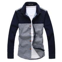正品美特斯邦威男士休闲衬衫 韩版法兰绒磨毛长袖衬衣 拼接衬衫男 价格:49.00