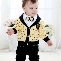 babyrow童装儿童套装男童衣服宝宝2013新款服装婴幼儿春秋外出服 价格:79.79