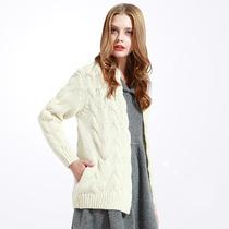OZ奥芝 西班牙 两色 柔软羊毛羊绒 经典绞花 厚实羊毛开衫 毛衣 价格:315.00