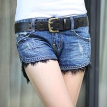 衣邦秀才2013秋装新款韩版宽松修身显瘦蕾丝牛仔短裤潮女热裤包邮 价格:89.00