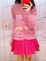 【高级定制】HONEY SASA  柔美胭脂嫩水粉 蝴蝶结装饰针织开衫 价格:168.00