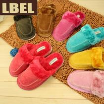 特价包邮 LBEL冬季保暖家居家棉拖鞋 男女情侣创意可爱厚底棉拖鞋 价格:24.80