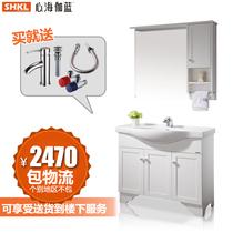 【天猫装修节】心海伽蓝卫浴落地橡木浴室柜0.8米1.2米欧式WX003 价格:2470.00