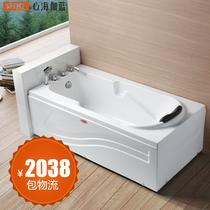【心海伽蓝】心海伽蓝1.5米方形纯亚克力浴缸带龙头WX290102 价格:2038.00