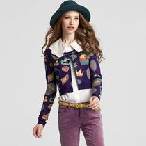 天使之城 2013新款秋装 女装针织衫 修身短款 开衫圆领62130086 价格:169.00