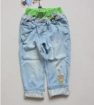 迎6.1特价2013夏季PAW STORY 女童牛仔7分裤 女童短裤 童裤 价格:59.00
