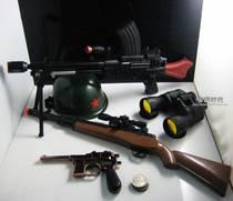 中国军队抗日小英雄套餐-轻机枪+狙击步枪+头盔/玩具枪-电动声震 价格:106.00