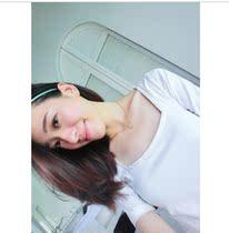 韩版女装新款夏装 方领百搭弹力修身短袖t恤 价格:12.00