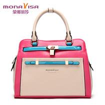 蒙娜丽莎 2013新款女包 手提包 女士包包 甜美女包 撞色女包 女包 价格:198.00