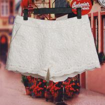 欧时力2013Five Plus5 女春夏欧根纱刺绣花边蕾丝短裤2126064870 价格:129.00