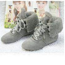 欧美冬款女鞋Dior迪奥系带羊皮毛一体平底休闲保暖女靴雪地靴子 价格:358.00
