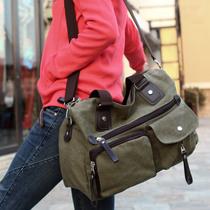 2012新款女帆布包 女士单肩包手提包斜跨包旅行包休闲女大包包邮 价格:58.00