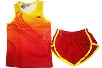 新款 田径服 运动服 短袖 套装 男女款 两色 跑步比赛服可印字号 价格:30.00