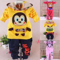 包邮 2013新款儿童运动套装男童女童童装1-2-3-4-5岁宝宝秋装衣服 价格:49.00