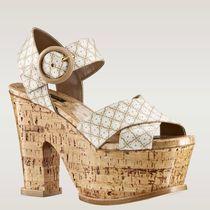 欧洲代购路易威登2013夏季新款LV女鞋/粗跟厚底凉鞋 休闲 928161 价格:10270.40