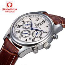 正品瑞士嘉年华腕表防水镂空复古真皮带男表全自动机械表男士手表 价格:440.00