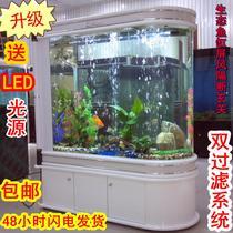 包邮0.8-2米生态水族箱 子弹头鱼缸 隔断玄关屏风可定制送全配置 价格:1900.60