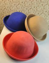 韩版可爱卷边冬天帽子男女潮圆顶西瓜帽羊毛呢复古礼帽爵士帽子 价格:19.75