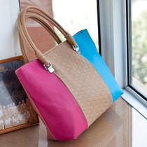 包包2013新款潮女士包韩版撞色时尚休闲女包单肩包手提包大包包邮 价格:59.00