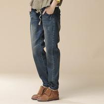 【云上生活】原创设计做旧牛仔长裤休闲直筒牛仔裤女8236 价格:138.60