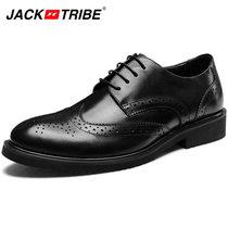 2013专柜季新款杰克部落男鞋英伦商务皮鞋真牛皮休闲鞋琼斯低帮鞋 价格:348.00