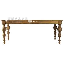 美式乡村实木餐桌 复古原木色餐桌 宜家桌子 法式西餐桌 长方桌 价格:2500.00