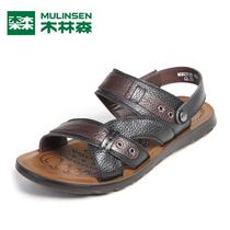木林森男凉鞋 真皮沙滩鞋搭扣休闲 潮2013夏季新款MQ823125 价格:99.00