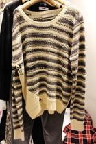 韩国正品代购 2013秋款FRIENDS圆领长袖条纹针织衫 价格:245.00