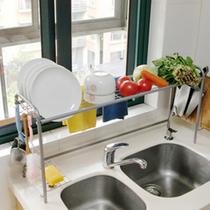 亏本包邮 厨房水槽沥水架 欧式碗碟架 厨房置物架 水槽架跨海大桥 价格:80.58