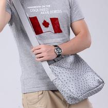 2013新款韩版包包 单肩包 男 PU皮质斜挎包 642 F38 价格:76.00