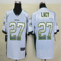 2013 Nike Packers 27 Lacy Drift Fashion White Elite Jerseys 价格:95.00