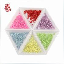 苹果diy饰品配件材料包 仿珍珠彩色半圆手机贴钻手机美容材料包 价格:1.00
