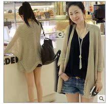 【抢牛品】2013新款韩版外套中长款防晒蝙蝠 针织衫女开衫 价格:35.00