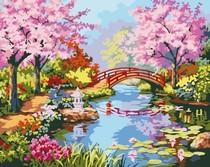画世界特价 diy手绘数字油画 客厅风景数码装饰画江南春色 40x50 价格:39.00