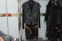 彬彬公主11秋冬装新款2013女装修身两件套皮裙拼接PU皮长袖连衣裙 价格:169.00