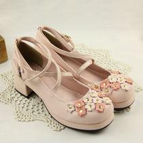 2013新款 日本原单梦展望正品 甜美可爱花朵洛丽塔公主学生鞋AXES 价格:118.00