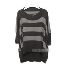 意大利weekend 2012秋冬 真丝羊毛蝙蝠条纹针织衫 价格:155.00