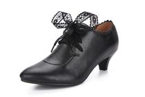 2013新款正品单鞋女粗跟女鞋中跟牛皮女士皮鞋 精品单鞋33-40码 价格:148.00
